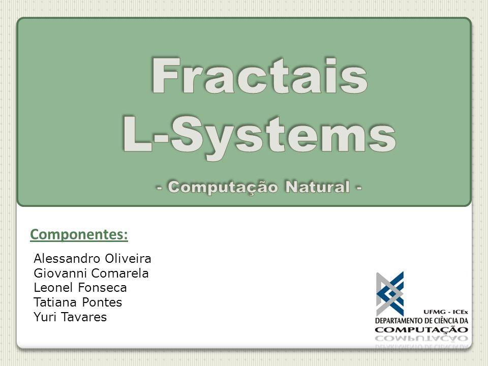 Fractais Introdução Motivação Dimensão fractal L-systems Definição Histórico Estrutura Exemplos Aplicações