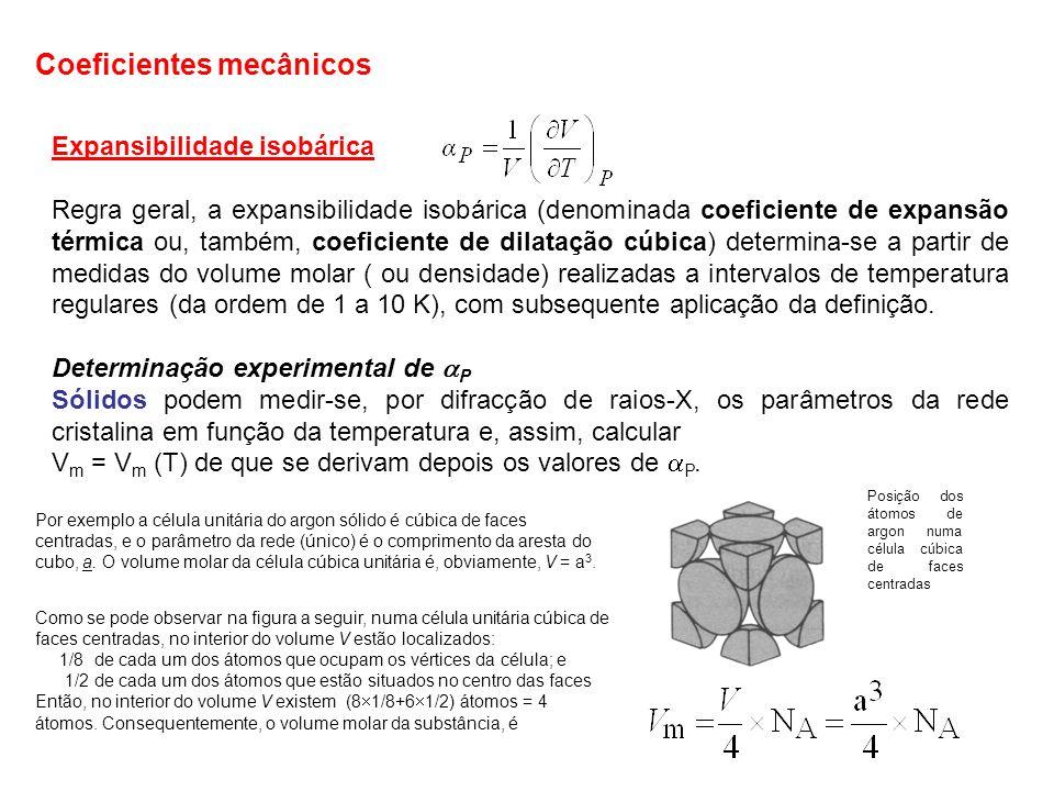 gases É conceptualmente simples a determinação de P : observando a evolução do volume do gás contido num recipiente de volume variável, tipo pistão, à medida que se vai modificando a temperatura, tomando a precaução de manter constante a pressão aplicada.