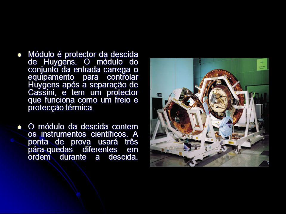 A descrição Cassini-Huygens é uma missão da junção NASA/ESA/ASI.