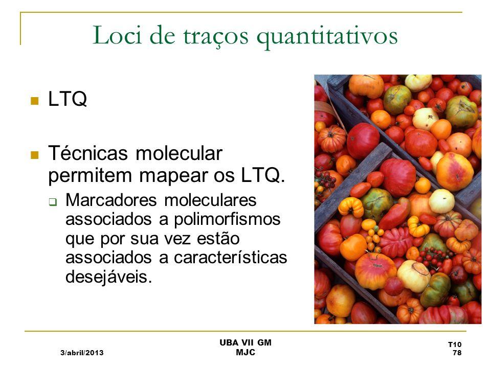 RFLP Loci LTQ do peso de tomates 3/abril/2013 UBA VII GM MJC T10 79