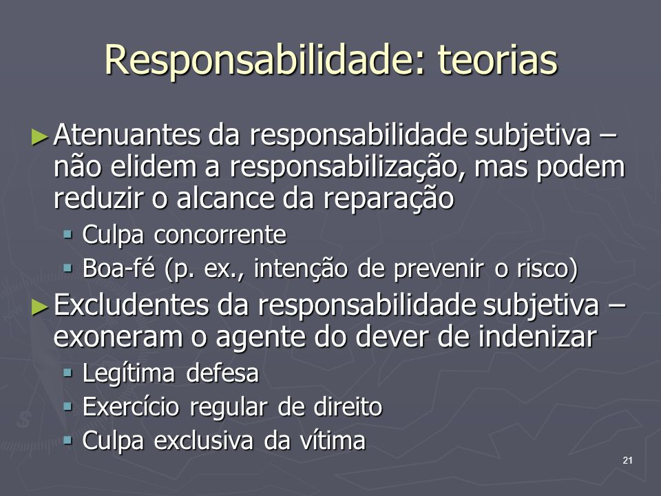 22 Responsabilidade: teorias Art.