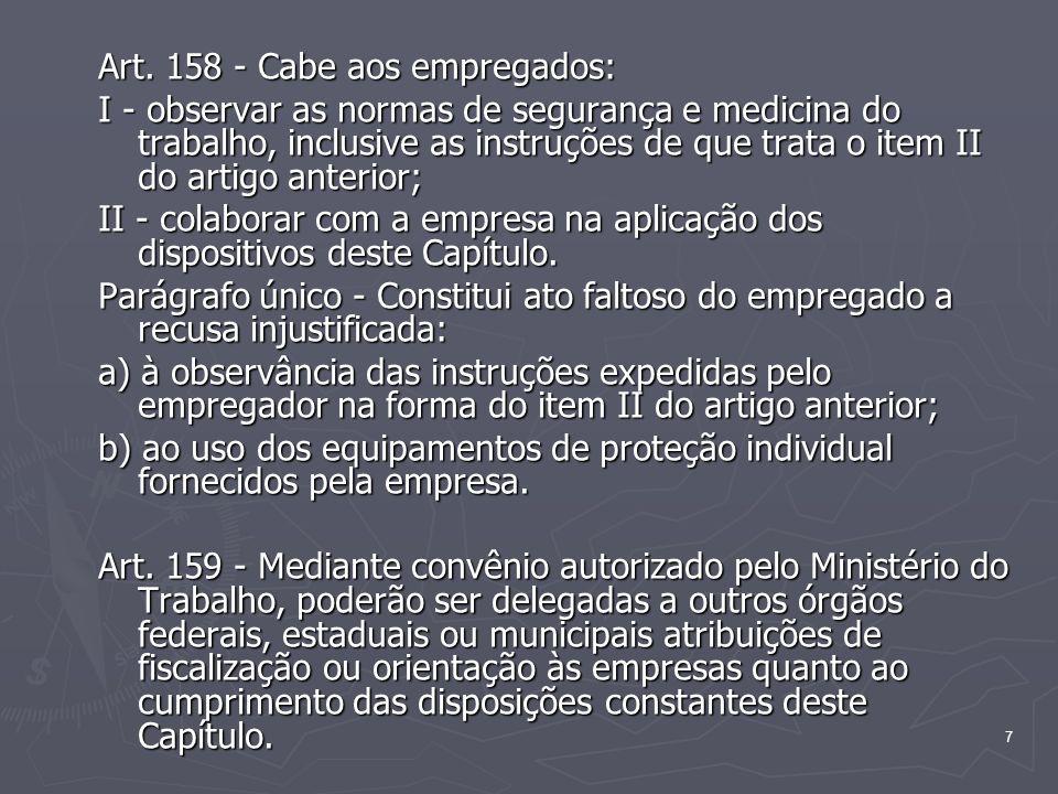 8 SEÇÃO II Da Inspeção Prévia e do Embargo ou Interdição Art.