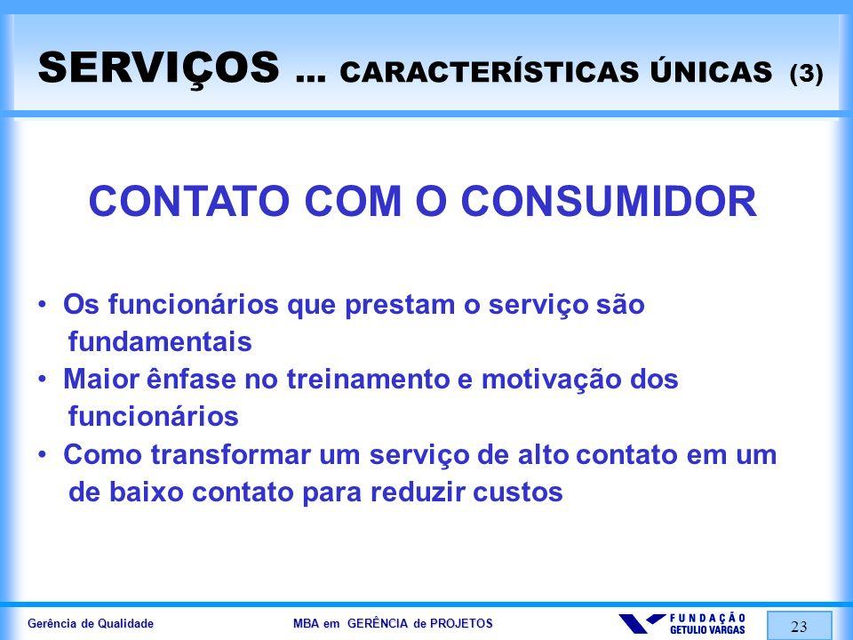 Gerência de Qualidade MBA em GERÊNCIA de PROJETOS 24 SERVIÇOS...
