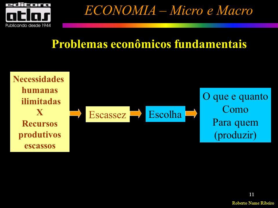 Roberto Name Ribeiro ECONOMIA – Micro e Macro 12 Sistema Econômico / Organização Econômica É a forma como a sociedade está organizada para desenvolver as atividades econômicas.