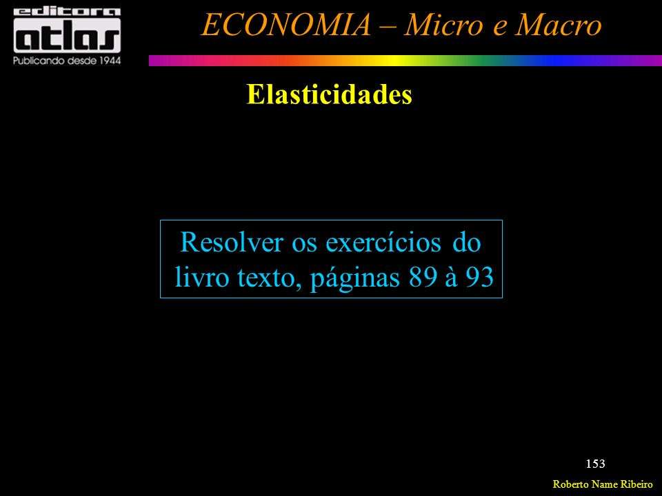 Roberto Name Ribeiro ECONOMIA – Micro e Macro 154 Introdução Conceitos Básicos Produção com um Fator Variável e um Fixo (uma análise de curto prazo) Produção a Longo Prazo Exercícios - Produção