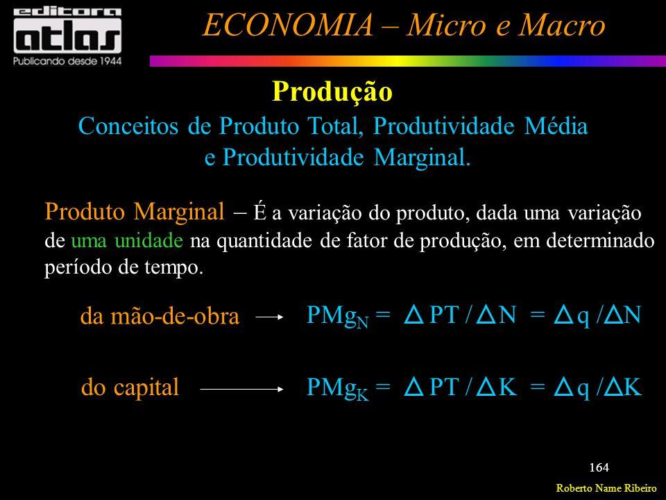 Roberto Name Ribeiro ECONOMIA – Micro e Macro 165 Produção