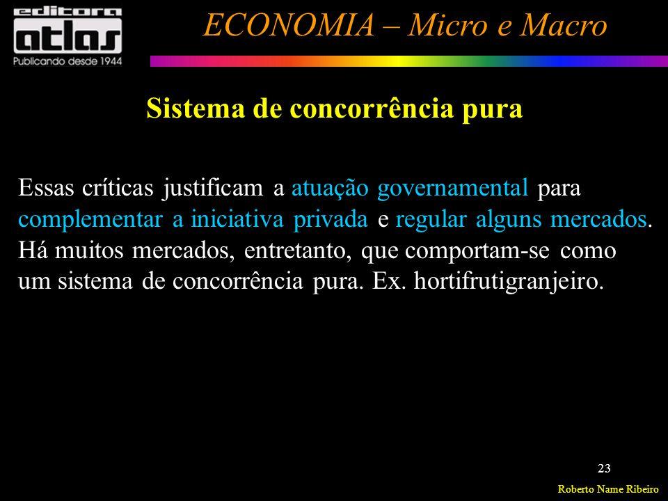 Roberto Name Ribeiro ECONOMIA – Micro e Macro 24 Sistema de mercado misto O papel econômico do governo Séc.