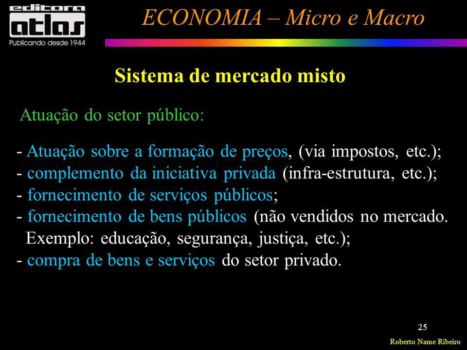 Roberto Name Ribeiro ECONOMIA – Micro e Macro 26 Economia Centralizada Agência ou Órgão Central de Planejamento decide a forma como resolver os problemas econômicos fundamentais.