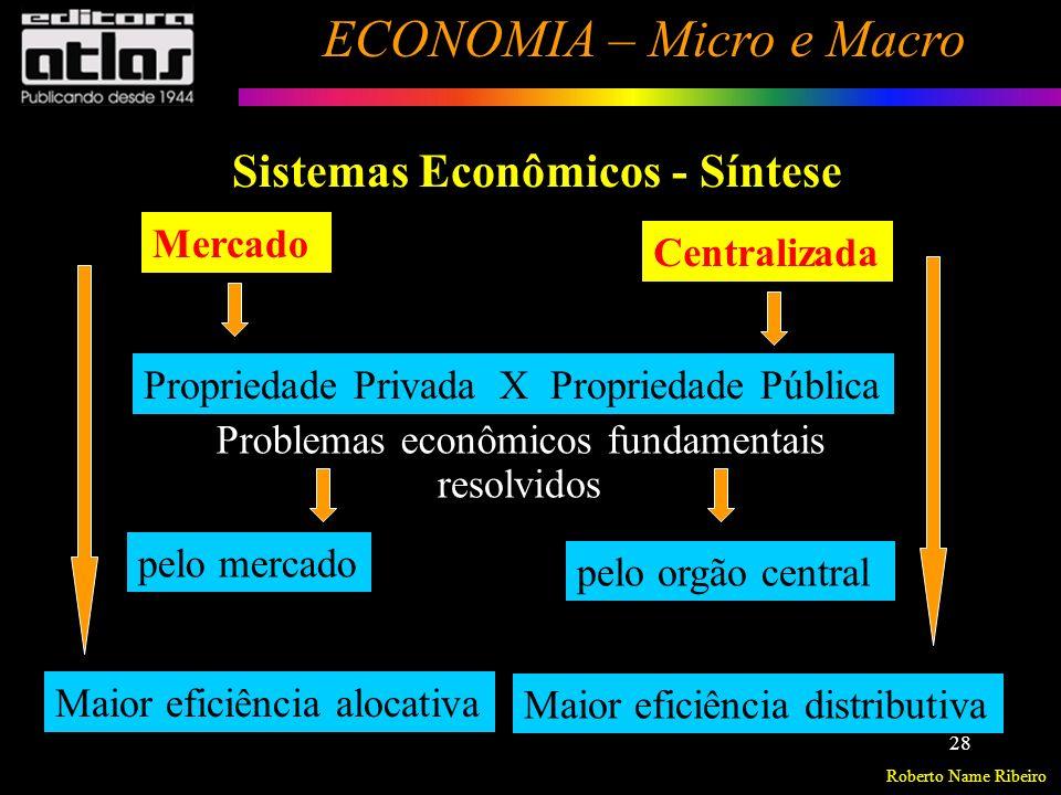 Roberto Name Ribeiro ECONOMIA – Micro e Macro 29 Análise Positiva – Análise Normativa Declarações Positivas = Os economistas tentam descrever (Descritivas) o mundo como ele é.