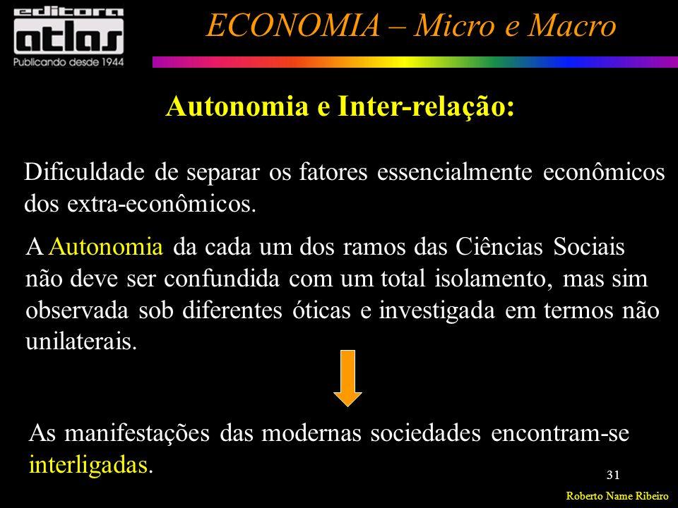 Roberto Name Ribeiro ECONOMIA – Micro e Macro 32 Aspecto Econômico Realidade -Aspecto Material do Objeto Aspecto Social Aspecto Político Aspecto Histórico Aspecto Geográfico Aspecto Demográfico