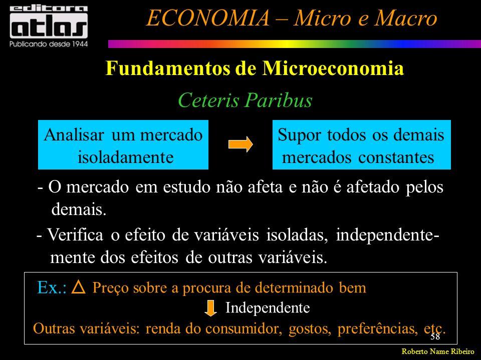 Roberto Name Ribeiro ECONOMIA – Micro e Macro 59 Análise da Demanda de Mercado Demanda (ou procura) é a quantidade de determinado bem ou serviço que os consumidores desejam adquirir, num dado período.