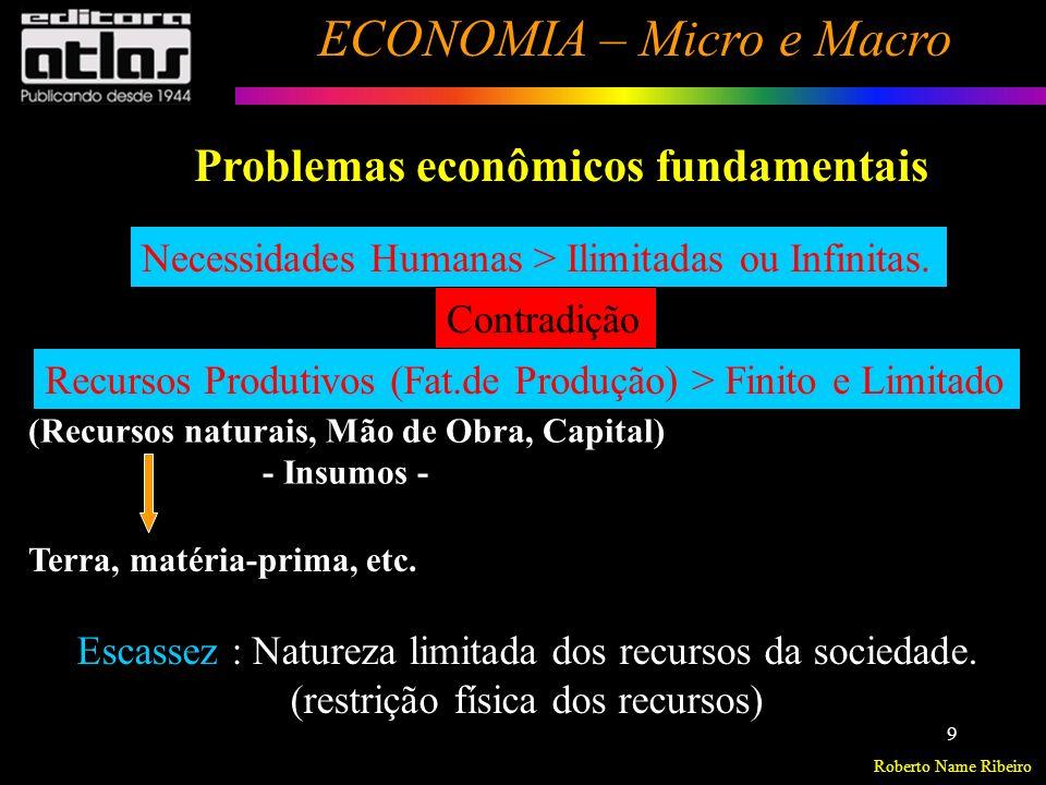Roberto Name Ribeiro ECONOMIA – Micro e Macro 10 O QUE e QUANTO produzir .