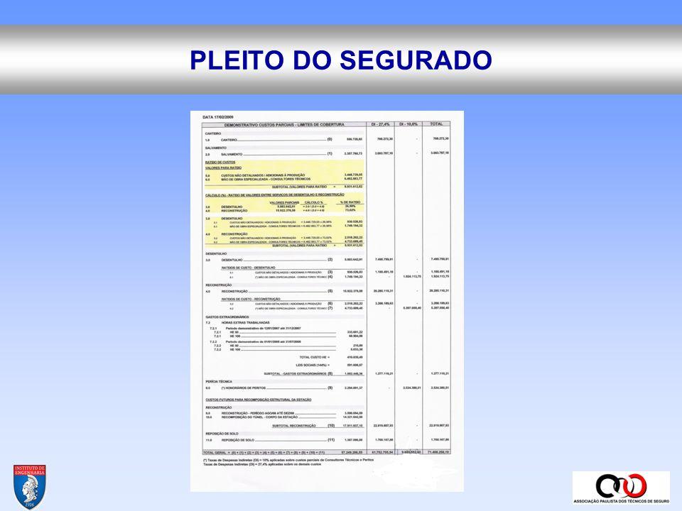 REGULADOR DE SINISTROS ANALISE DE DOCUMENTAÇÃO DE VALORES