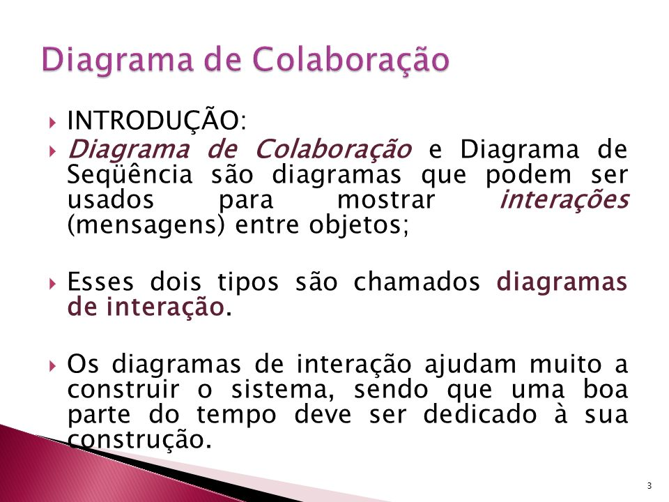 Dá ênfase aos objetos que participam de uma interação (enviar e receber mensagens).
