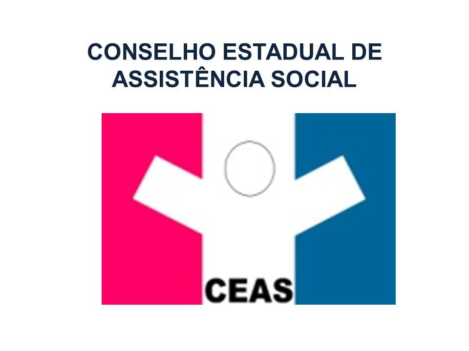 O CONTROLE SOCIAL NO ESTADO DE ALAGOAS A Lei 5.810/1996, alterada pela Lei 6.341/2002 institui Conselho Estadual de Assistência Social de Alagoas e Fundo Estadual de Assistência Social; O grande desafio do CEAS é atualizar a Lei de criação de acordo com a Lei 12.435/2011 (Lei do SUAS)