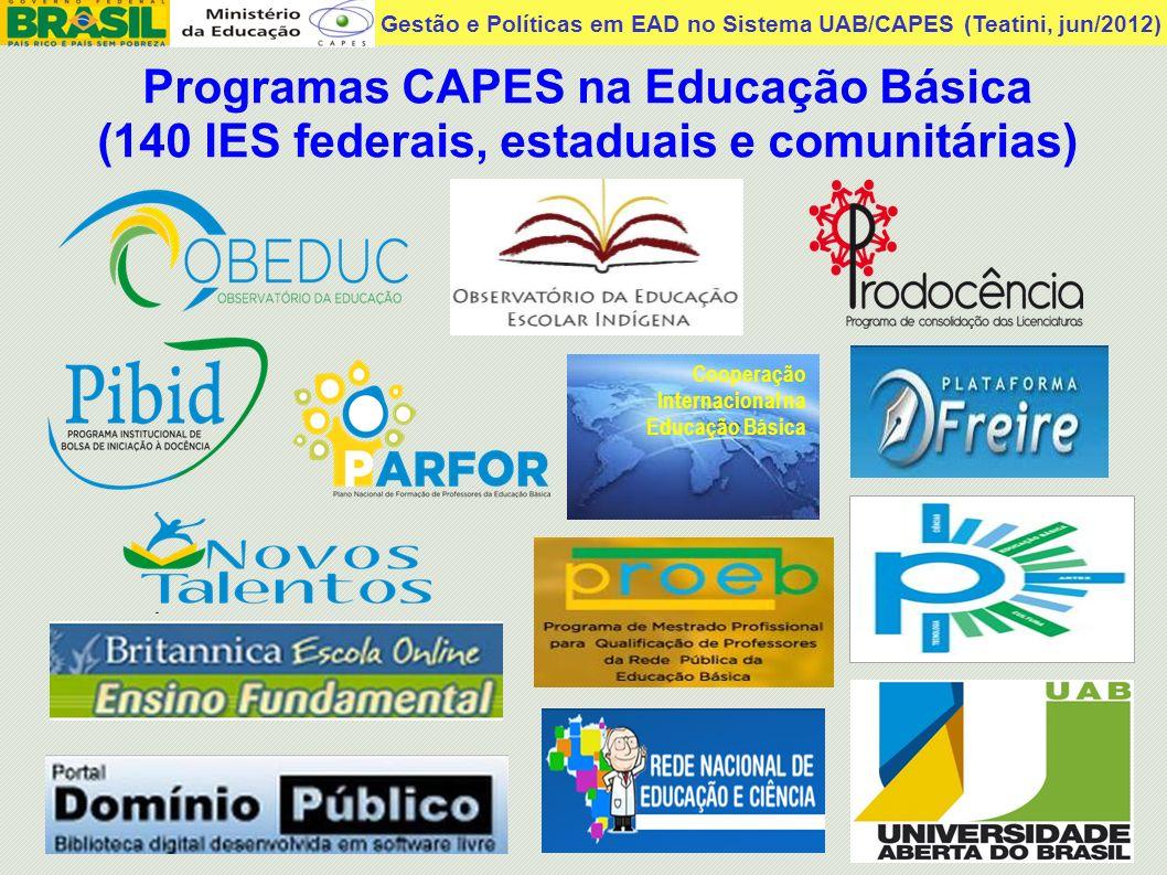 Gestão e Políticas em EAD no Sistema UAB/CAPES (Teatini, jun/2012)Sistema Universidade Aberta do Brasil UAB Instituído pelo Decreto Federal n o.
