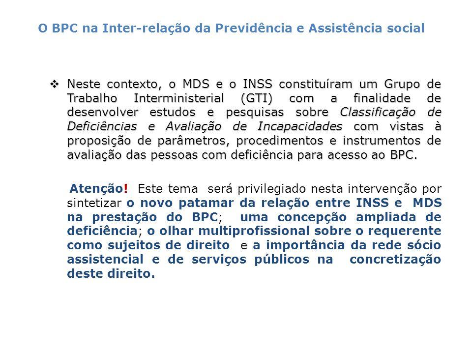 Em 2007, o decreto 6214, de 26 de setembro institui o novo modelo da deficiência e do grau da incapacidade.
