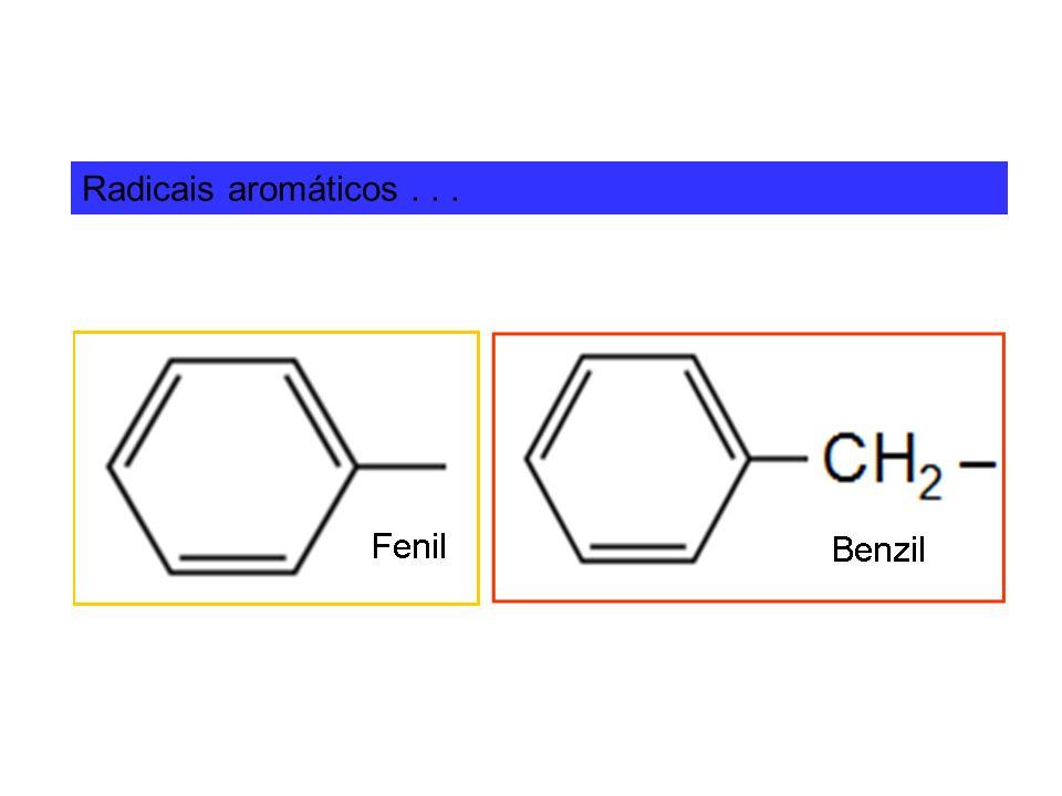 Uma cadeia ramificada pode ser vista como cadeia principal acrescida de radicais.