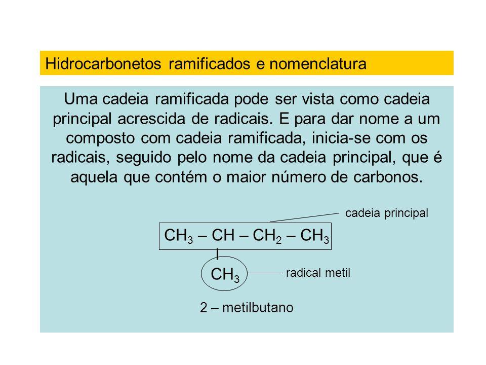 Aplicando as quatro etapas: I) Identifica-se a cadeia principal: possui o maior número de carbonos.