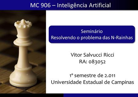 MC 906 – Inteligência Artificial