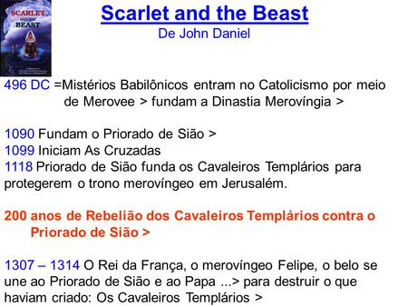 Scarlet and the Beast De John Daniel