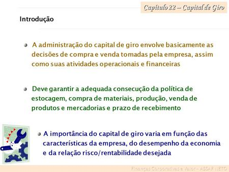 Capítulo 22 – Capital de Giro
