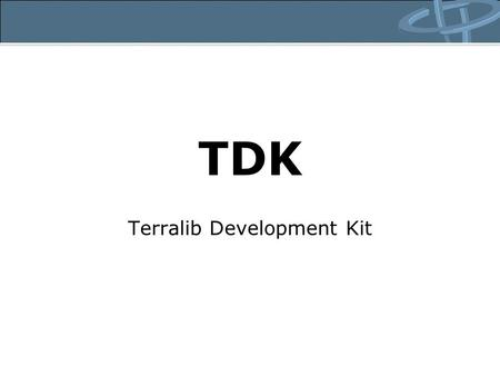 Terralib Development Kit