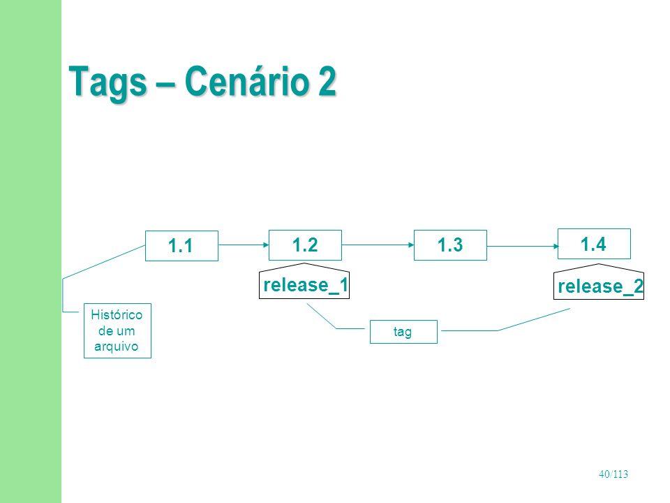 41/113 Branch n Criação de um fluxo alternativo para atualização de versões de itens de configuração n Recurso muito poderoso n Devem existir regras bem definidas para criação de branches u Por que e quando devem ser criados.