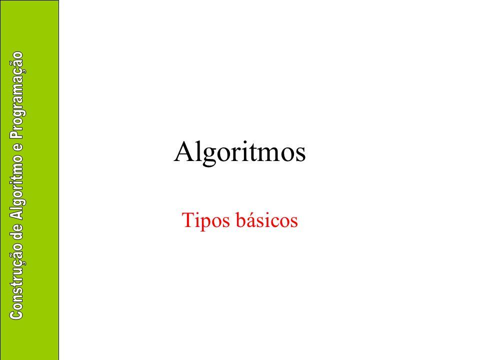 Conjunto básico de tipos pré- existentes –Inteiros –Reais –Literais –Lógicos –Binários –Ponteiros