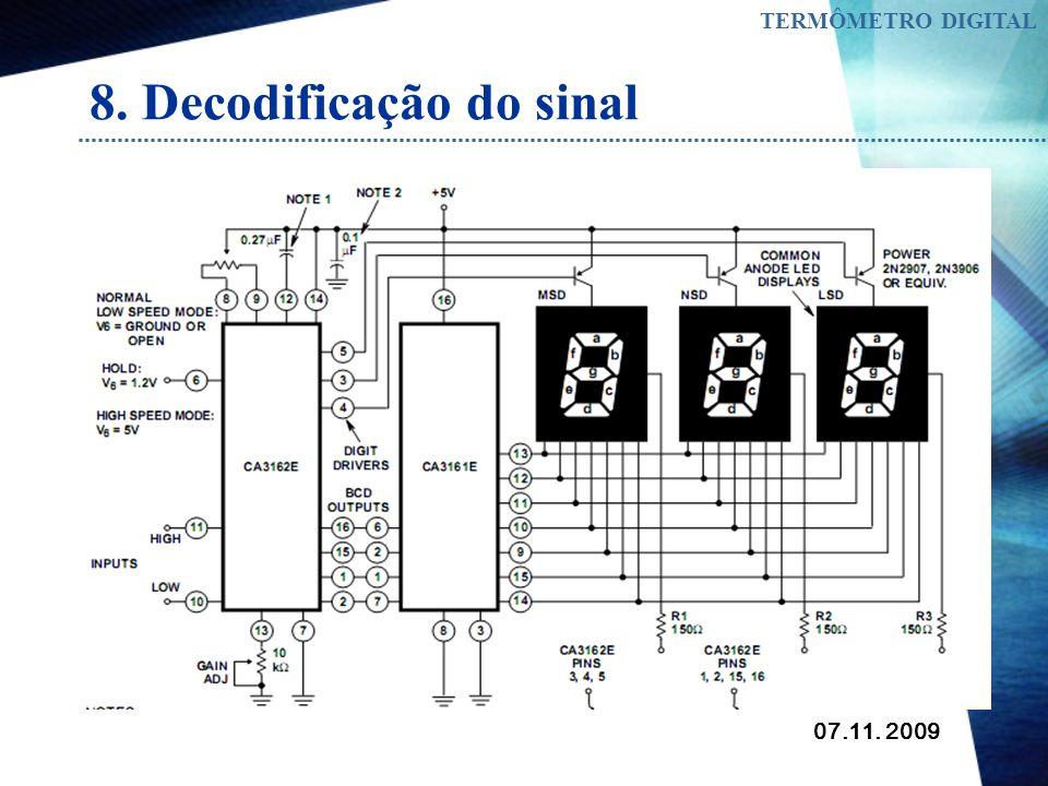 07.11. 2009 TERMÔMETRO DIGITAL 8. Decodificação do sinal