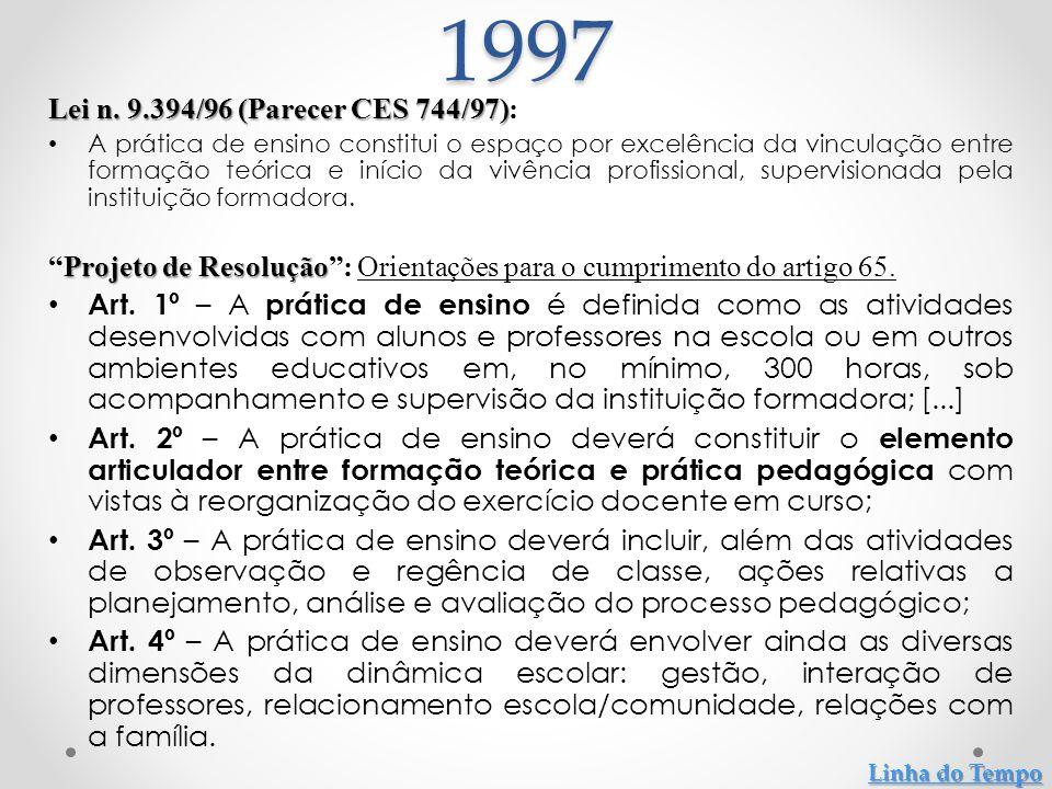 Parecer CNE/CP 115/99: Parecer CNE/CP 115/99: Diretrizes Gerais para os Institutos Superiores de Educação.