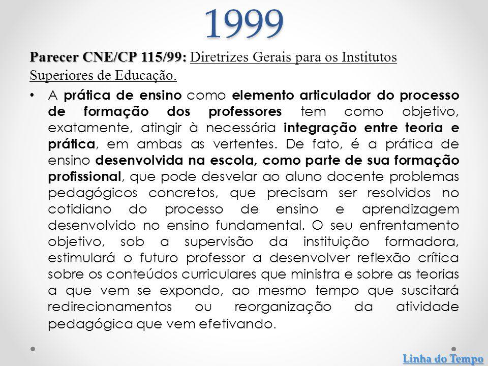 Parecer CNE/CP 009/2001: Parecer CNE/CP 009/2001: Diretrizes Curriculares Nacionais para a Formação de Professores da Educação Básica, em nível superior, curso de licenciatura, de graduação plena.