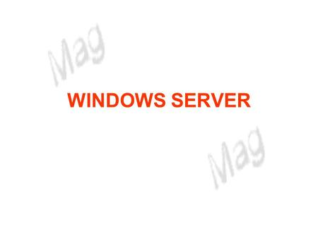 WINDOWS SERVER.