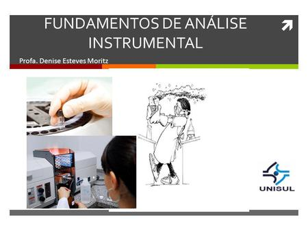 FUNDAMENTOS DE ANÁLISE INSTRUMENTAL Profa. Denise Esteves Moritz.