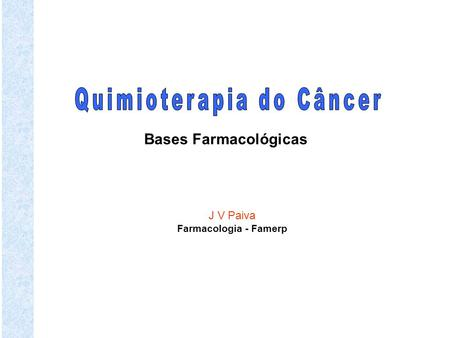 Quimioterapia do Câncer