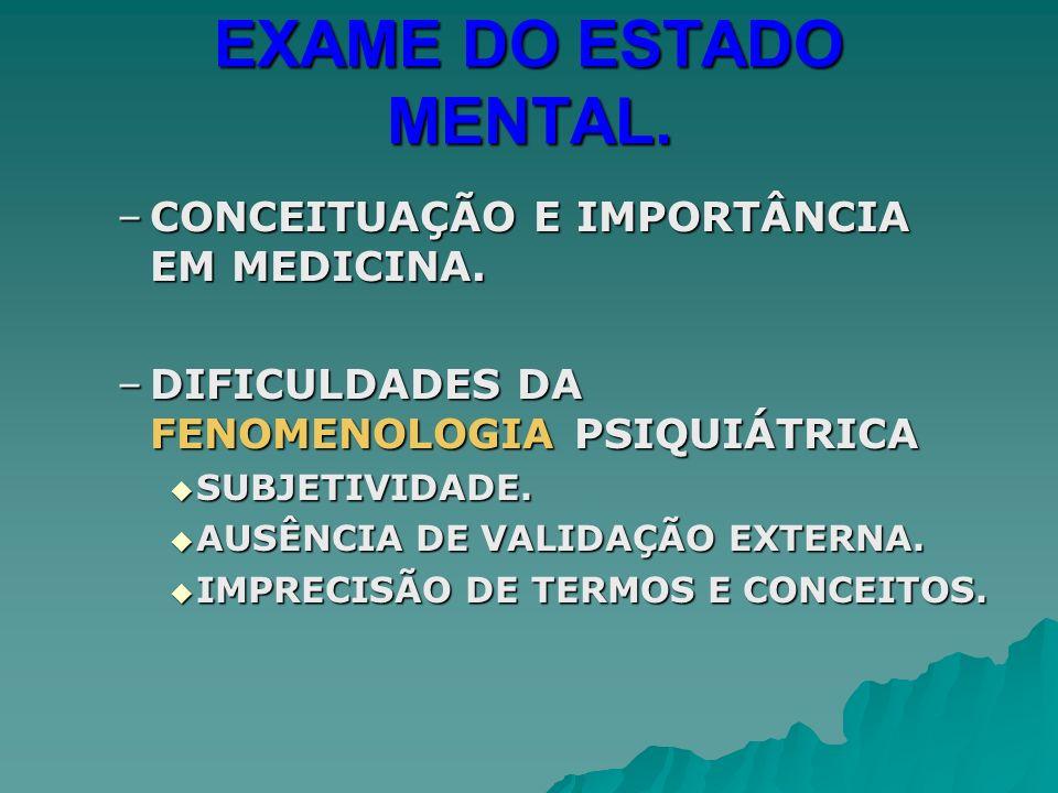 EXAME DO ESTADO MENTAL.