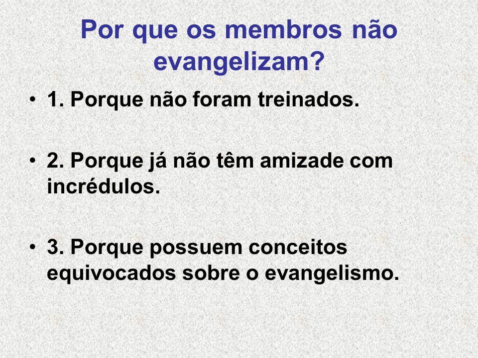 Por que os membros não evangelizam.4. Porque não possuem encargo.