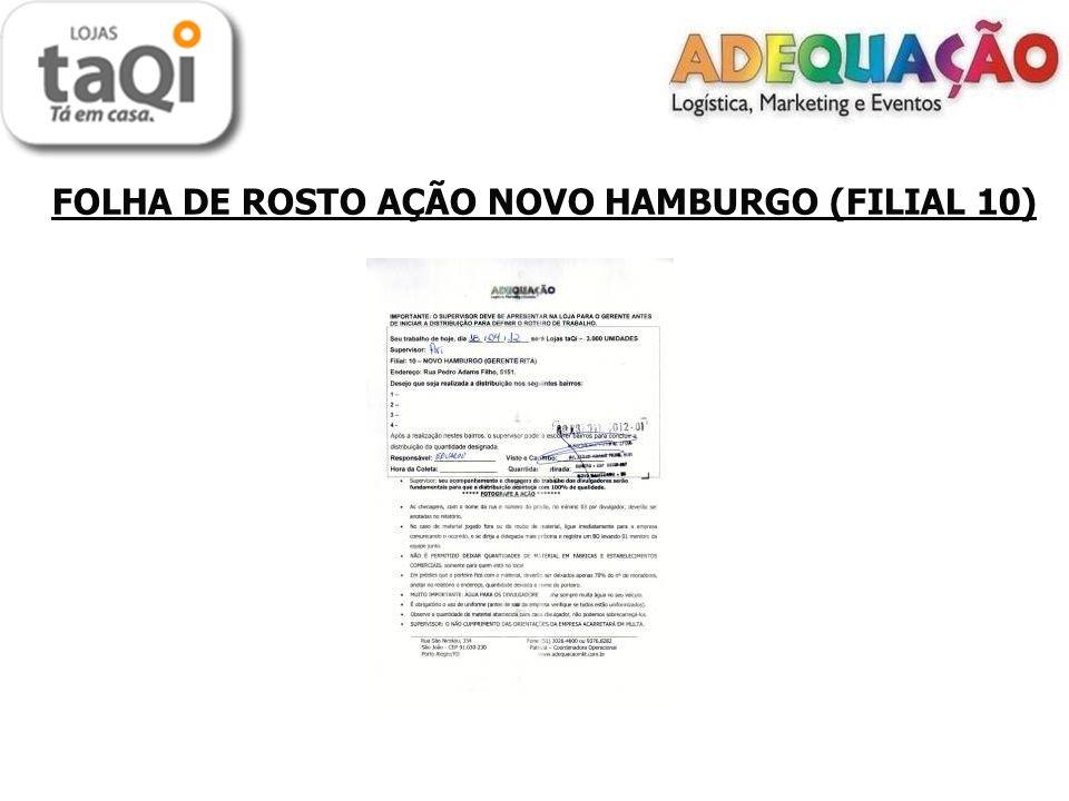 LOCAIS DE DISTRIBUIÇÃO ( FILIAIS 07, 10 e 50) Porta a Porta - Petrópolis, Centro, Pátria Nova e Rio Branco - O material foi todo distribuído no porta a porta.