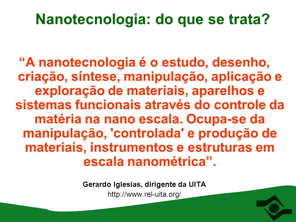 Nanotecnologia: do que se trata.