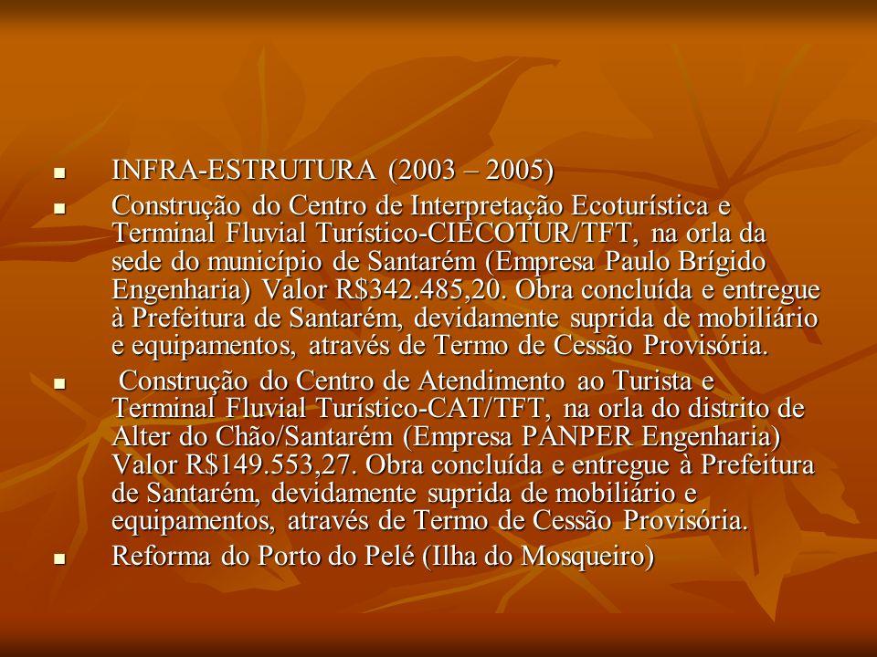 CONSERVAÇÃO (2003-2006) CONSERVAÇÃO (2003-2006) Elaboração de Estudos de Criação de Unidade de Conservação-UC de Cachoeira Porteira; (Museu Paraense Emílio Goeldi) Valor R$18.000,00.