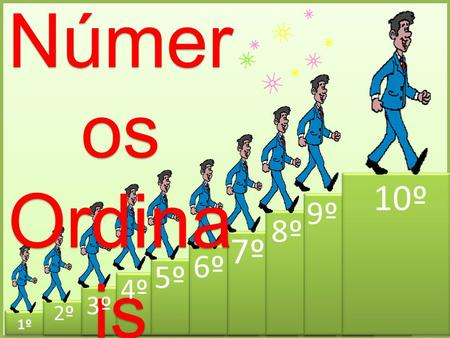 Númer os Ordina is Númer os Ordina is 1º 2º 3º 4º 5º 6º 7º 8º 9º 10º.