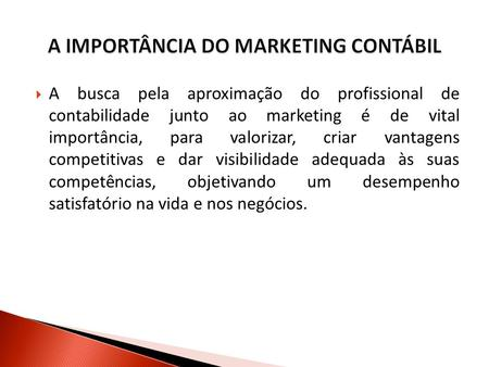 A IMPORTÂNCIA DO MARKETING CONTÁBIL