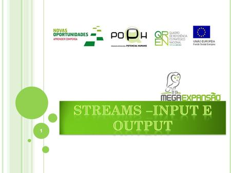 Streams –input e output