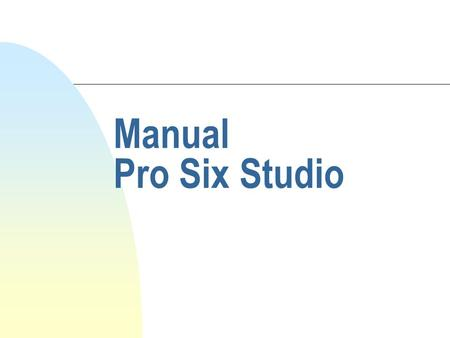 Manual Pro Six Studio.