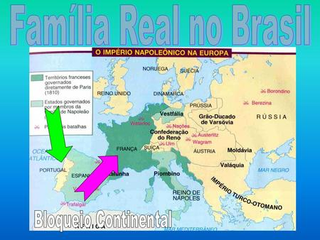 Família Real no Brasil Bloqueio Continental.