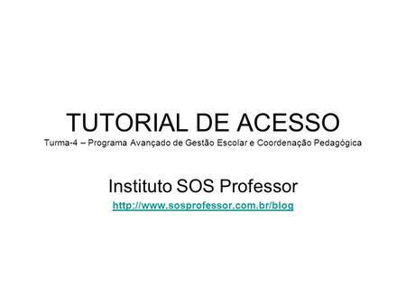 Instituto SOS Professor