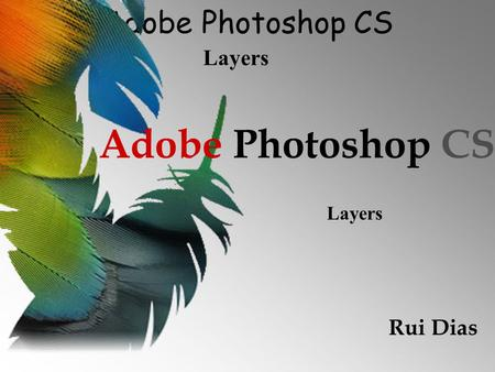 Adobe Photoshop CS Layers Adobe Photoshop CS Rui Dias Layers.