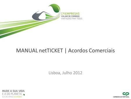 MANUAL netTICKET | Acordos Comerciais