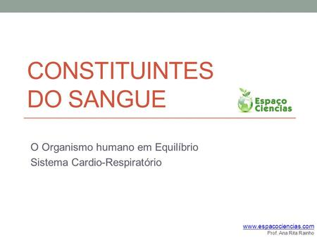 Constituintes do sangue