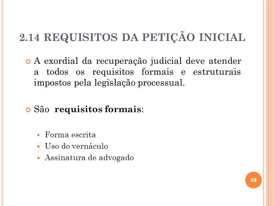 50 São requisitos estruturais (art.282 CPC): Indicação do juízo competente.
